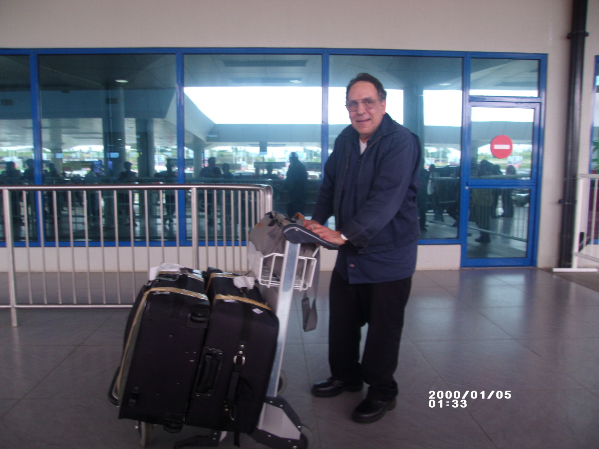 My arrival with luggages full of pasalubongs and donations