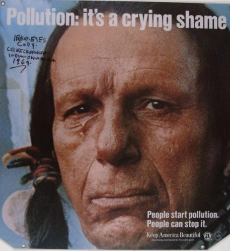 Iron Eyes Cody would not support the filipino culture of littering